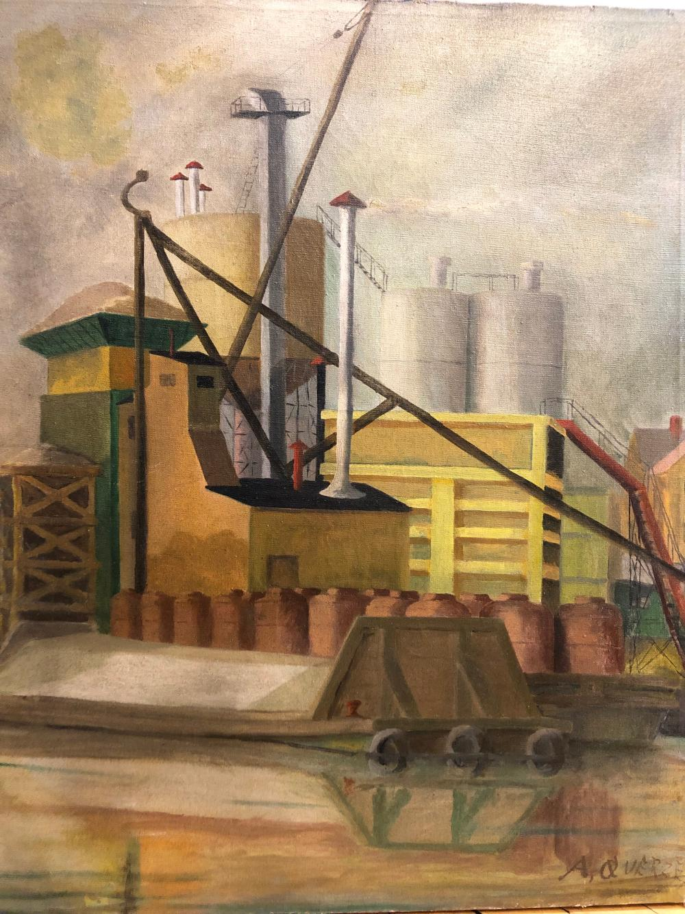 A. Querze ~ Original Industrial Depression era painting