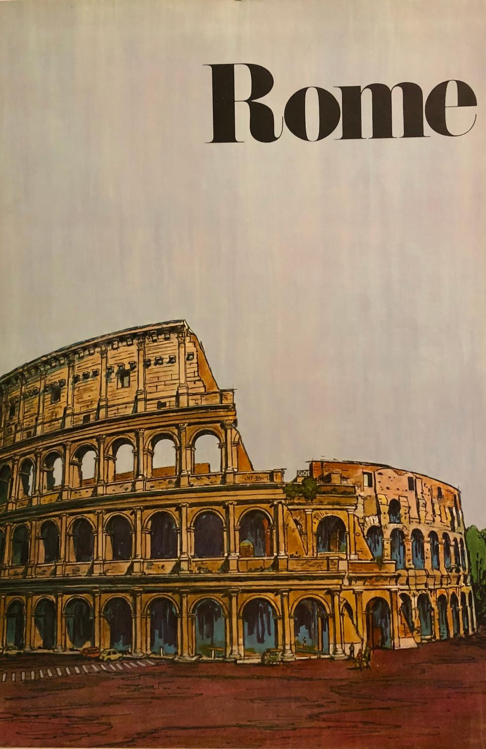 Ronzoni Rome Poster by Harry Kane Illustrator