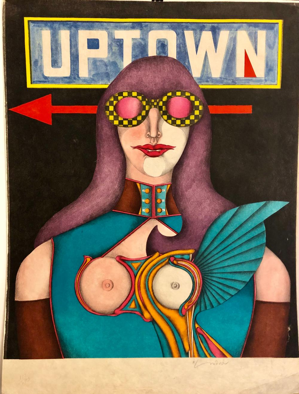 "Richard Lindner ""Uptown"" s/n"