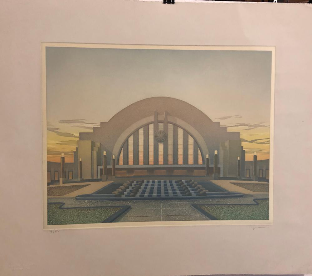 "Philippe LeJeune ""Union Terminal at Night"""
