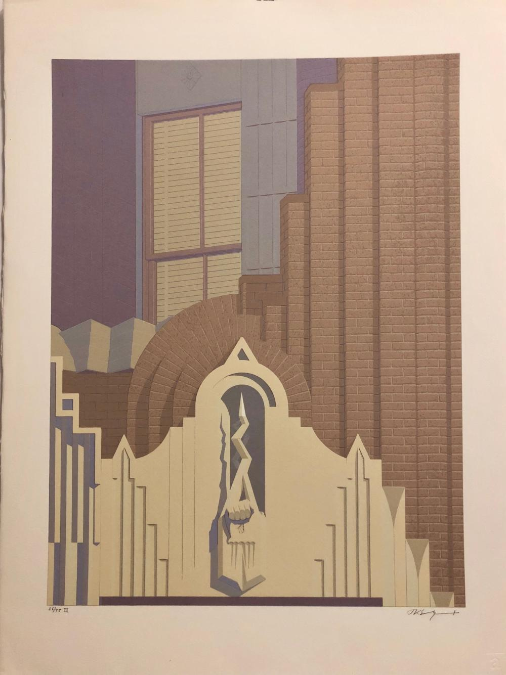 RARE RCA Building, JK Sundquist Color Litho