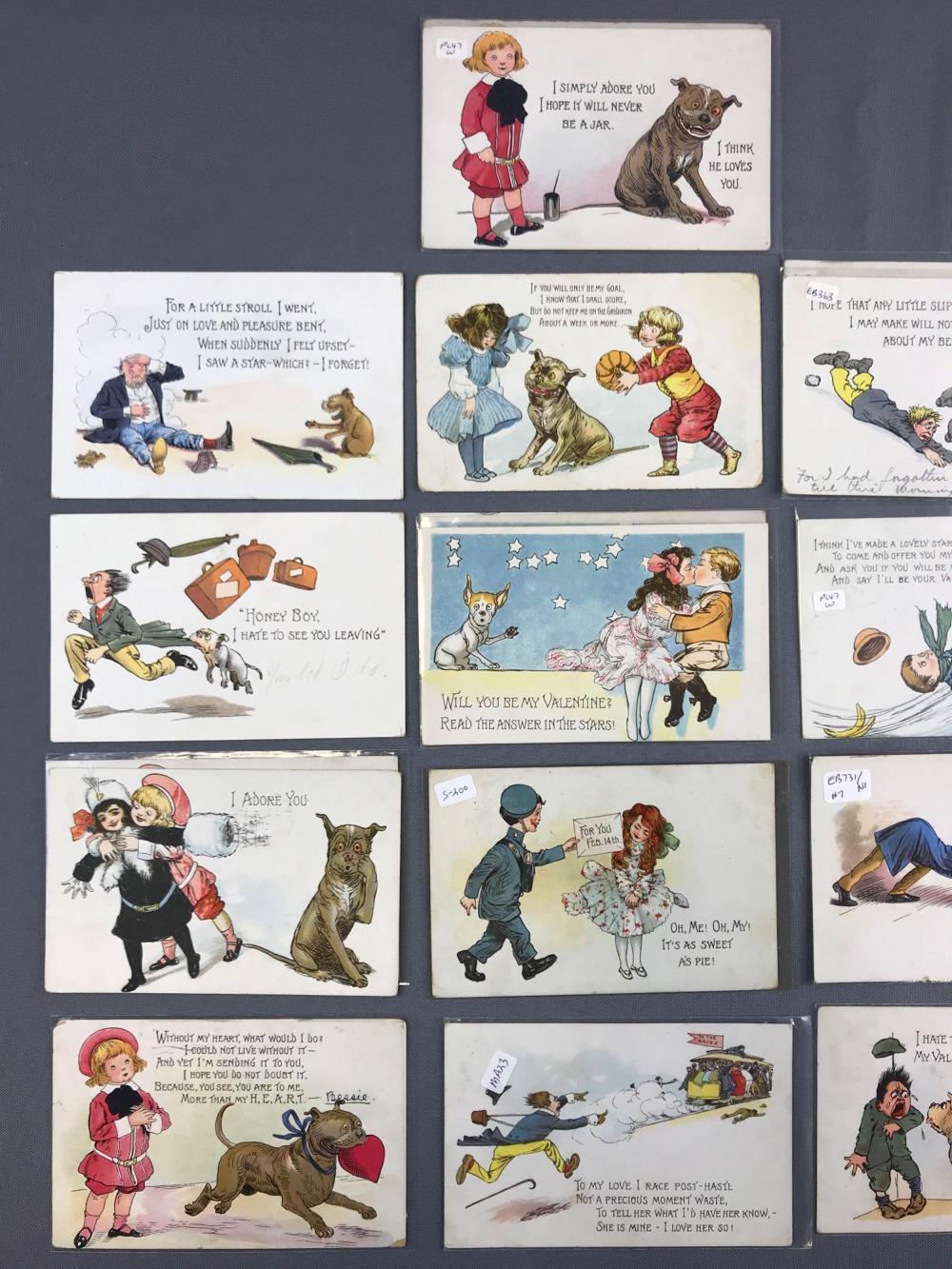 from Gilbert dating tucks postcards