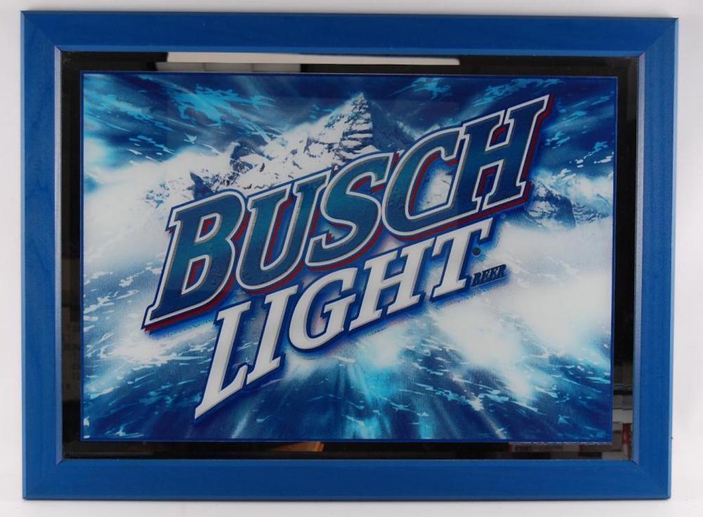 Busch Light Advertising Beer Mirror