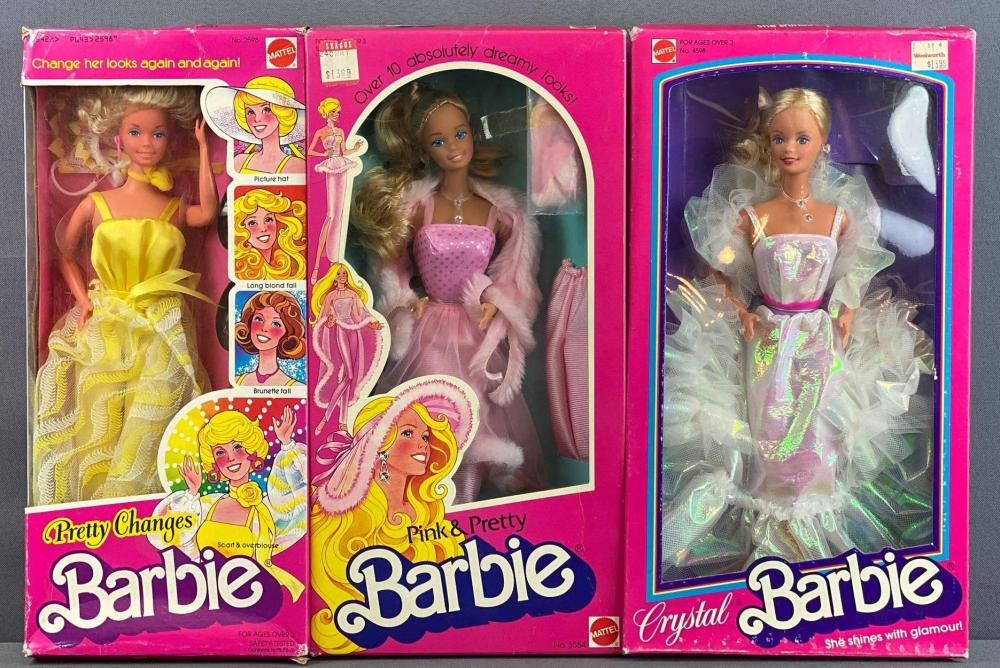 Group of 3 assorted Barbie Fashion Dolls