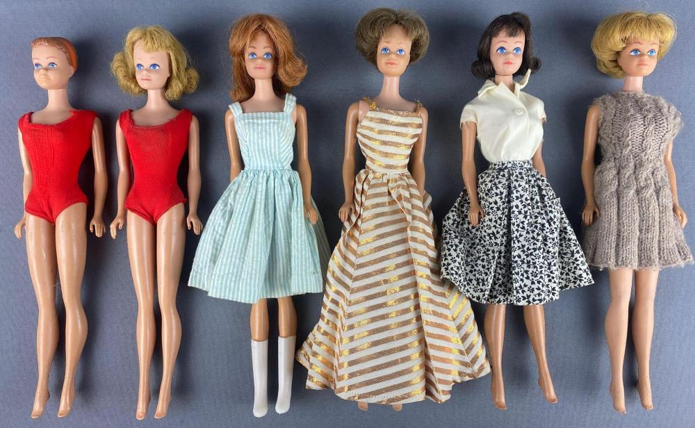 Group of 6 assorted Barbie Midge Fashion Dolls