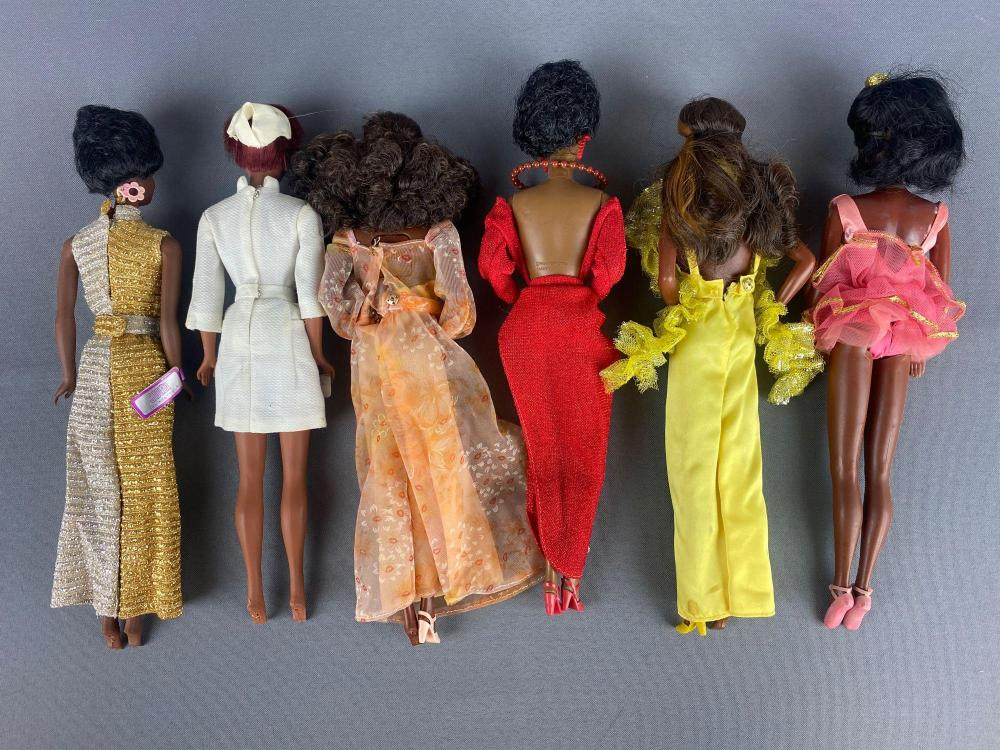 Group of 6 assorted Barbie Fashion Dolls