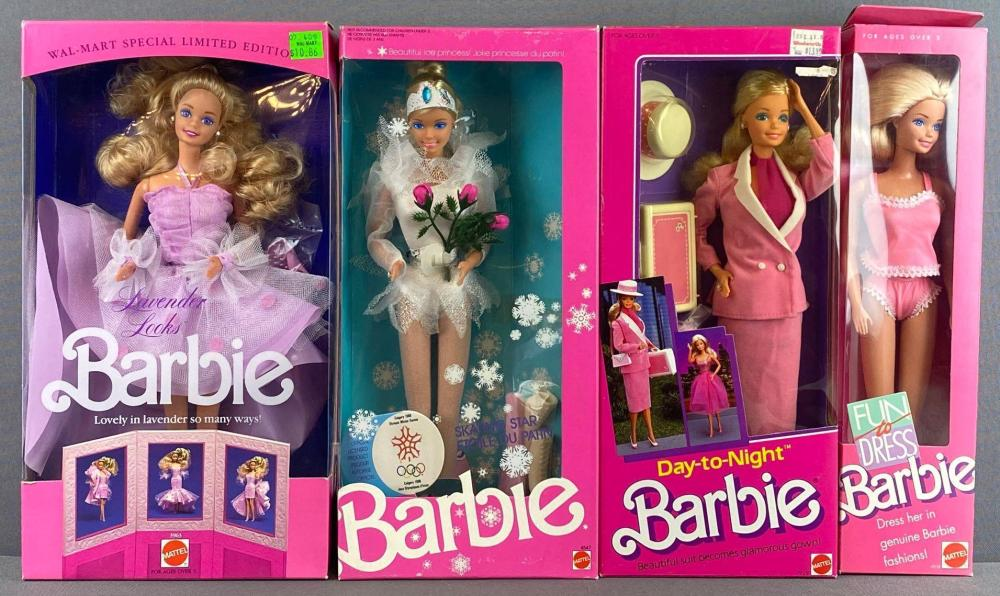 Group of 4 assorted Barbie Fashion Dolls