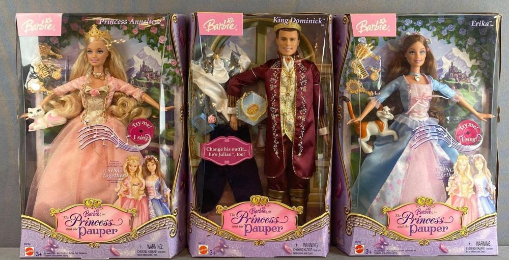 4 piece group Barbie The Princess and The Pauper Fashion Dolls and more