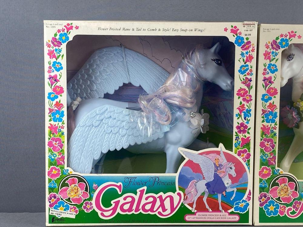 2 piece group Flower Princess unicorn and pegasus