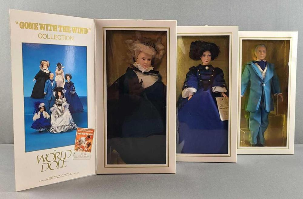 Group of 3 World Doll Gone with the Wind dolls
