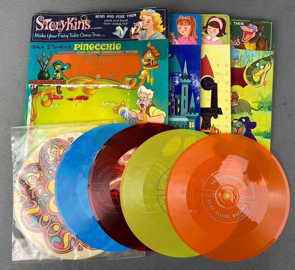 Group of Hasbro Unbreakable Records