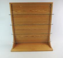 Plexiglass And Wood Shelving Display Case