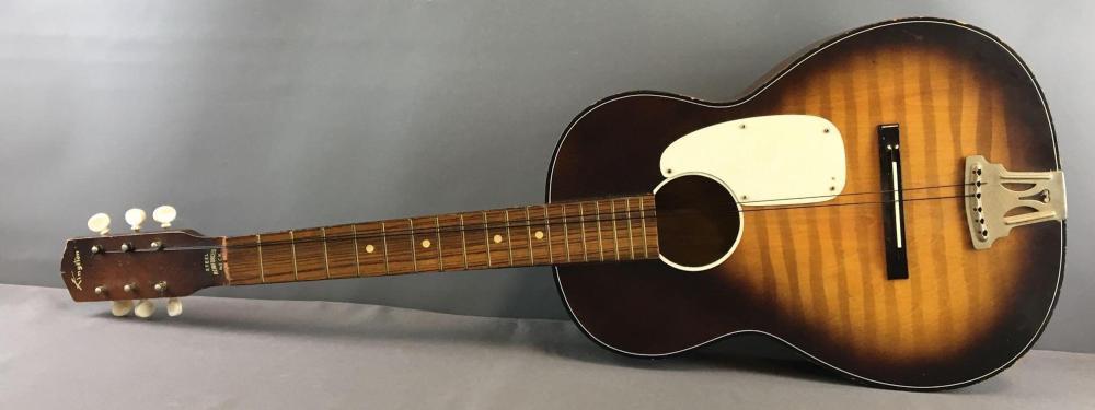 kingston acoustic guitar with soft case. Black Bedroom Furniture Sets. Home Design Ideas