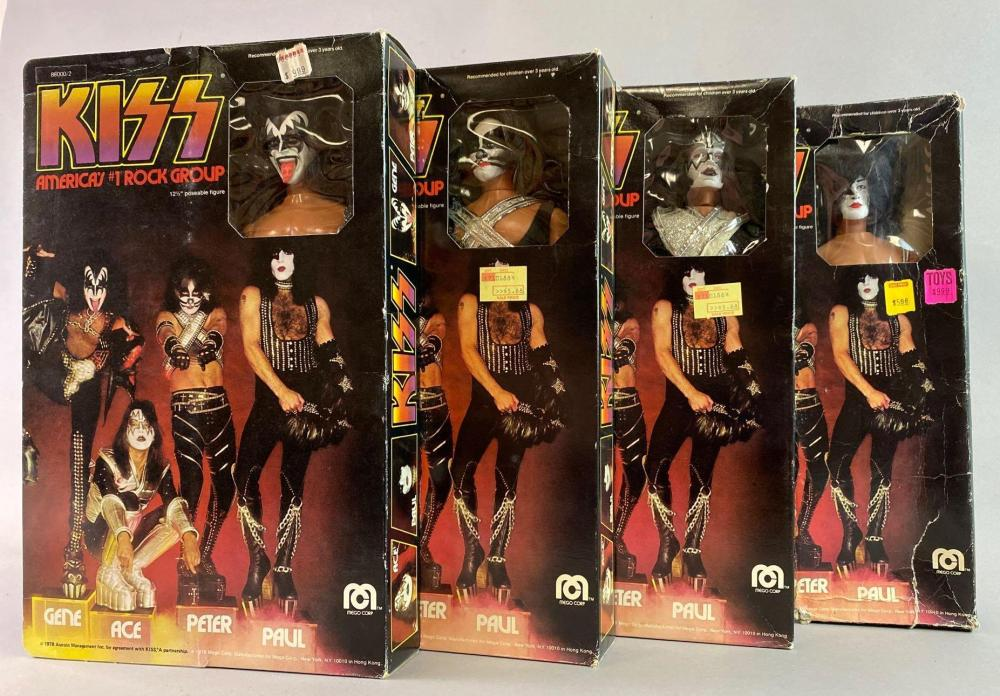 Group of 4 Mego KISS Action Figures