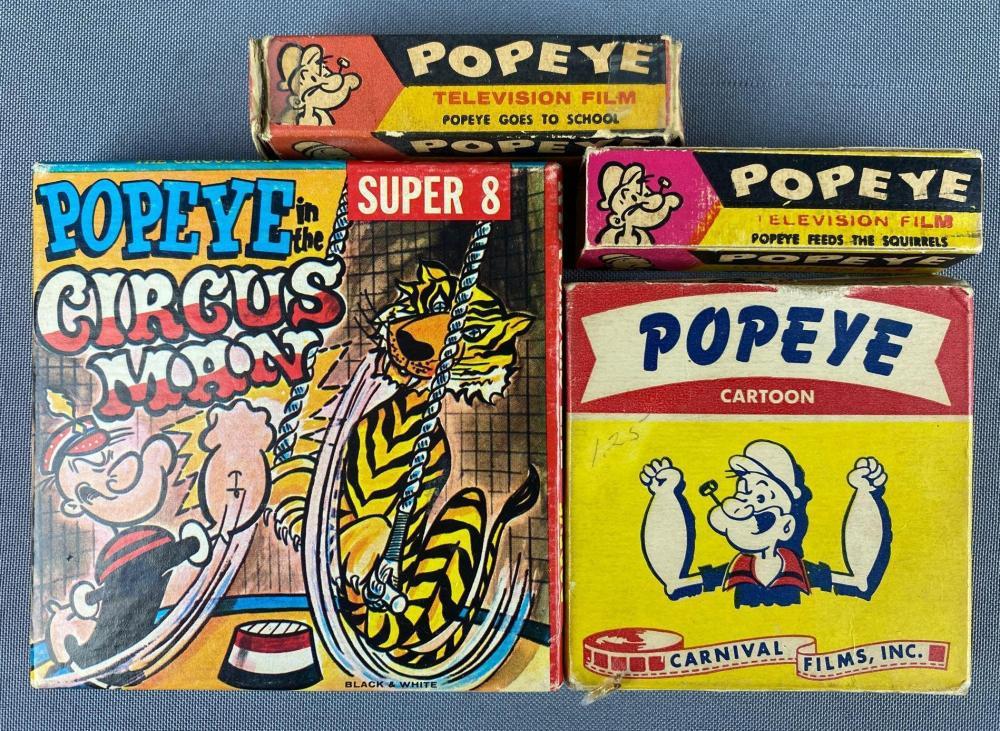 Group of 4 assorted Popeye Cartoon Films