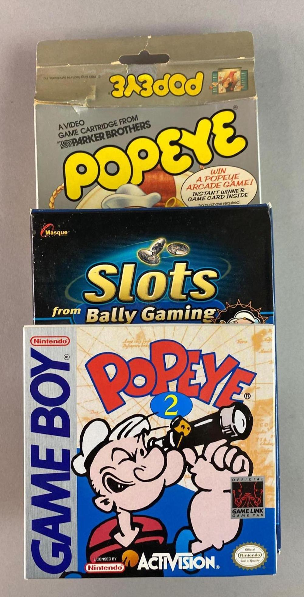 Group of 3 Popeye Video Games