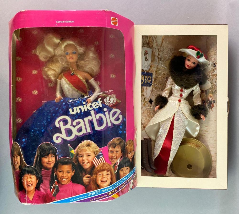 Group of 2 Mattel Barbie Dolls