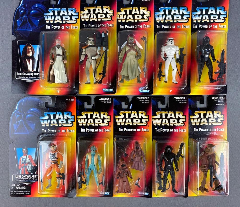 Group of 10 Kenner Star Wars The Power of the Force Action Figures
