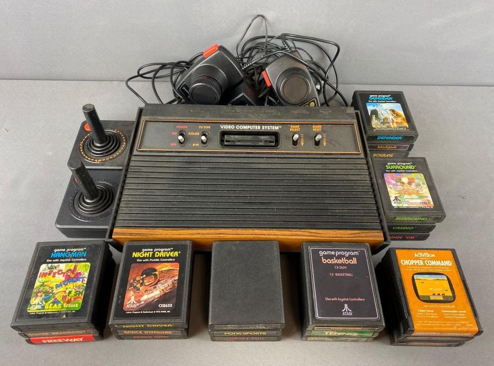 Atari 2600 Console, cartridges, and more