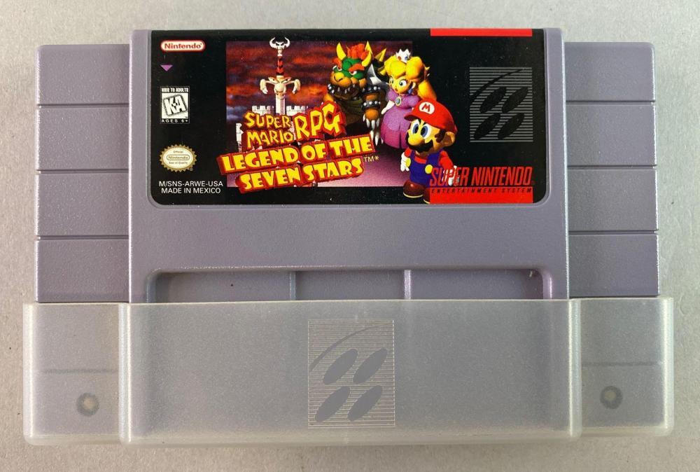 SNES Cartridge Super Mario RPG Legend of the Seven Stars