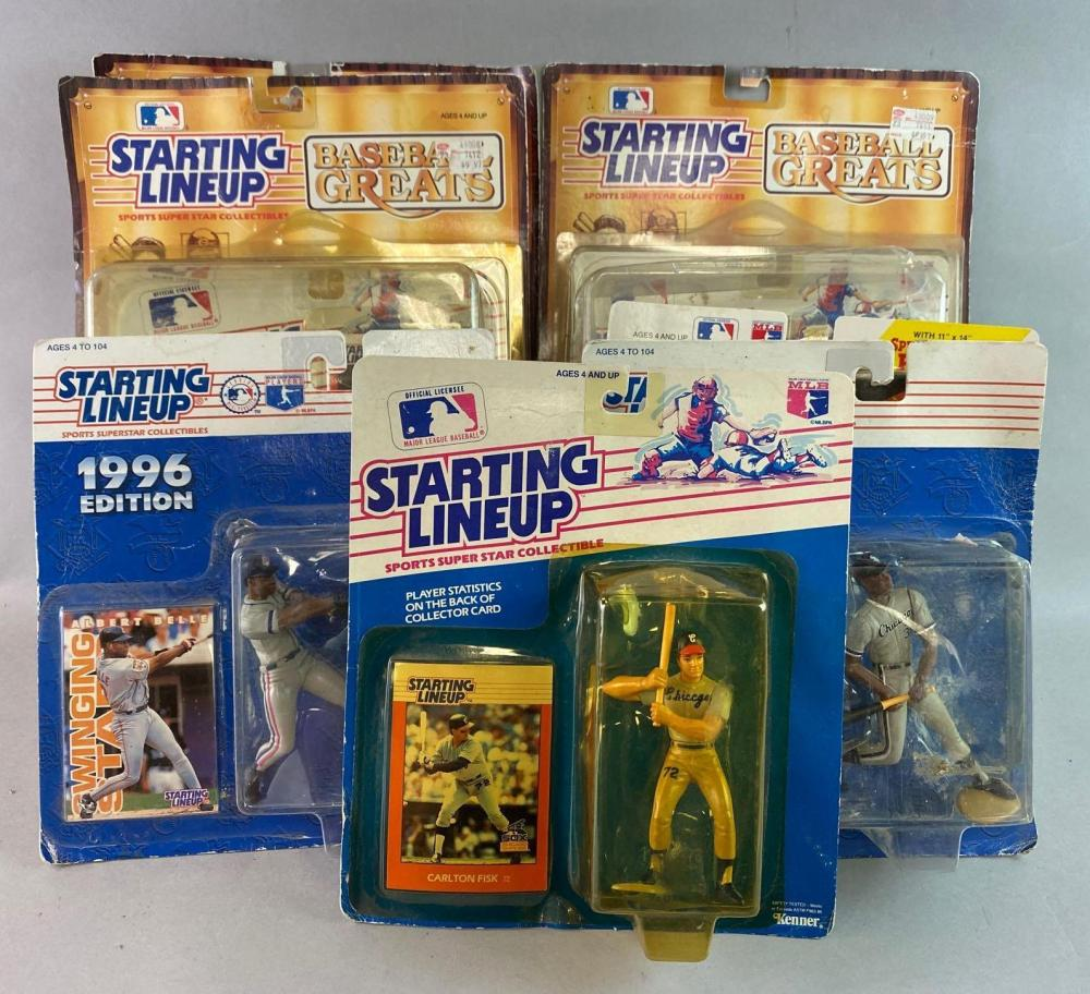 Group of 9 Starting Lineup Baseball Figures