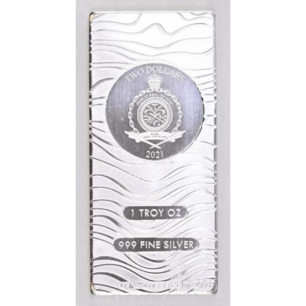 2021 $2 NZD Niue Silver Star Wars Mandalorian Beskar 1oz. .999 Fine Silver Ingot/Bar