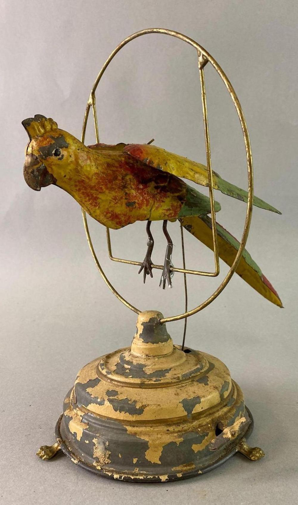 Mechanical Parrot Wind Up Tin Toy