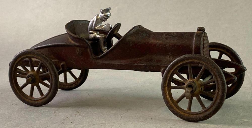 Antique Hubley Cast Iron Roadster Race Car