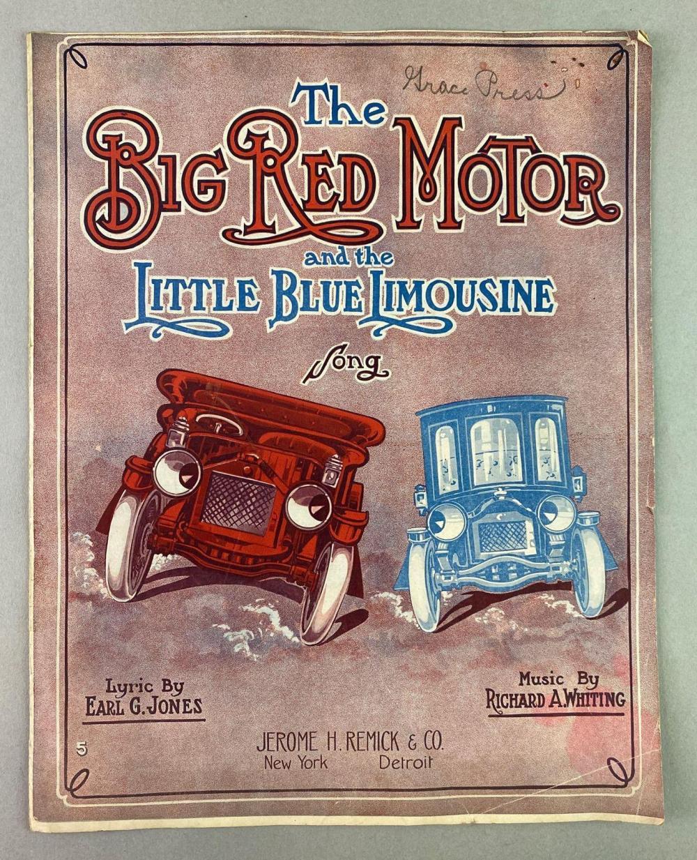 1913 Automobile Novelty Sheet Music