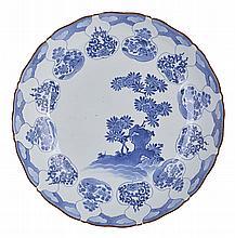 A JAPANESE ARITA BLUE AND WHITE DISH, EDO PERIOD, 18TH CENTURY