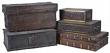 FIVE SMALL CHESTS, 19TH/20TH CENTURY