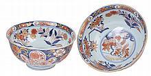 A PAIR OF JAPANESE IMARI BOWLS, EDO PERIOD, EARLY 18TH CENTURY