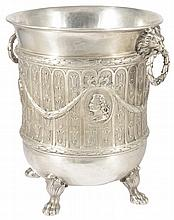 A GERMAN SILVER WINE COOLER, PROBABLY J.D. SCHLEISSNER & SOHNE, HANAU, CIRCA 1900