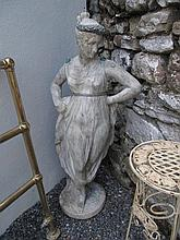 Classical Composite Stone Figure with Led and