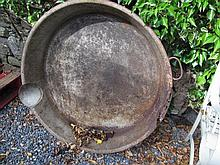 Antique Cast Metal Bathing Pan