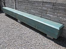 Solid Wood Garden Bench with Three Cut Stone