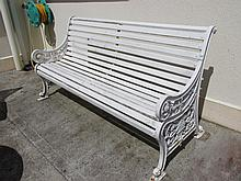 Victorian bench with Well Cast Wrought Iron Ends