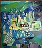 John McHugh (1918-1995)- Untitled (Port Scene)
