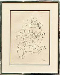 George Grosz (1893-1959)- Erotic Scene from the Ecce Homo Suite