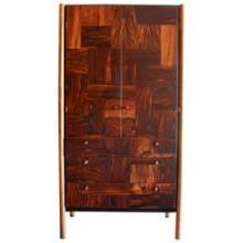Rougier Jacaranda Wood, Bronze and Black Lacquer Cabinet, Canada, circa 1970