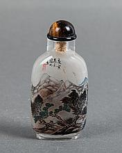 CHINESE INTERIOR PAINTED SNUFF BOTTLE, ZHOU LEYUAN