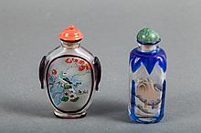TWO CHINESE INTERIOR PAINTED SNUFF BOTTLES