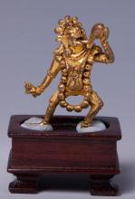CHINESE GILT BRONZE FIGURE OF VAJRAYOGINI