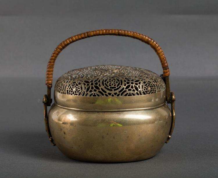 CHINESE BRONZE HAND WARMER WITH MARK