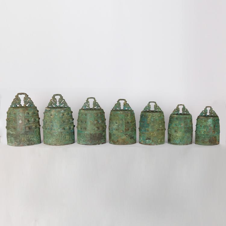 CHINESE ARCHAIC STYLE BRONZE BELLS
