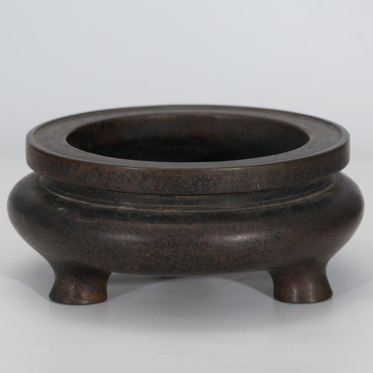 CHINESE BRONZE CENSER WITH MARK