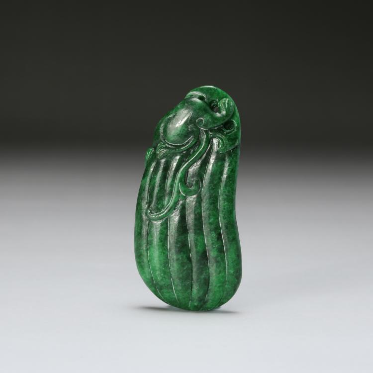 CHINESE SPINACH JADE PENDANT