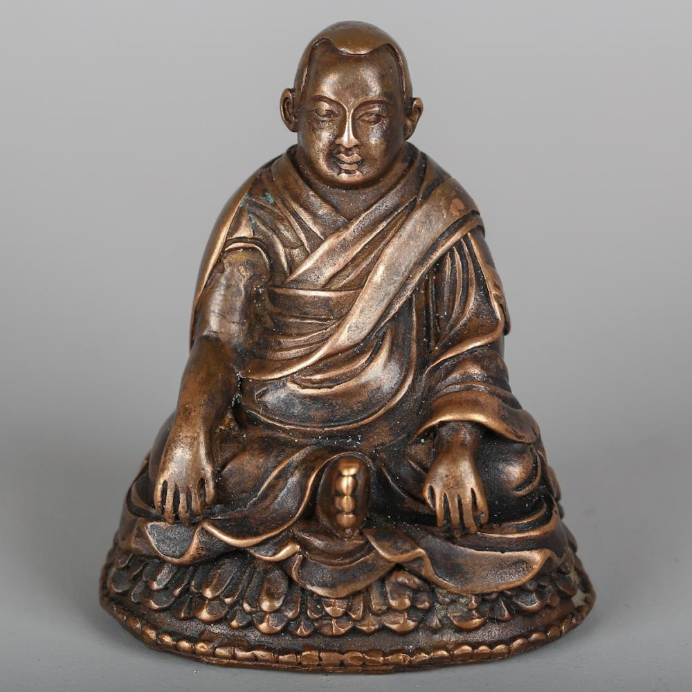 CHINESE BRONZE FIGURE OF GURU