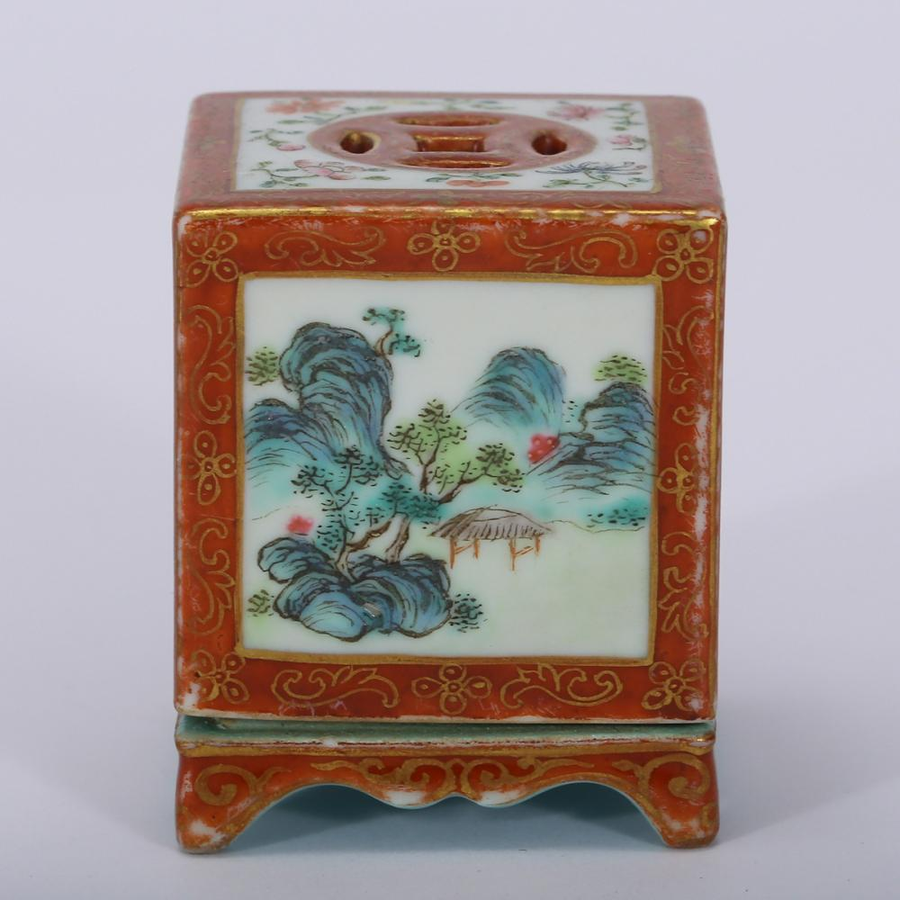CHINESE FAMILLE ROSE PORCELAIN CENSER