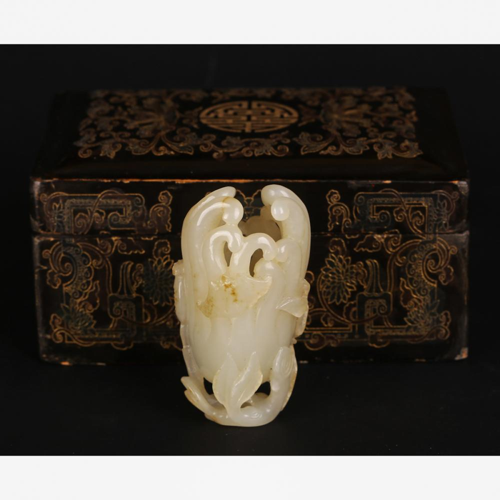 CHINESE WHITE JADE CARVED FINGER CITRON